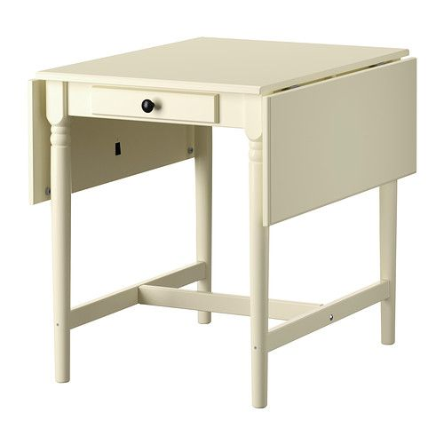 Delightful INGATORP Drop Leaf Table, White