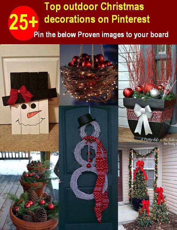Top Outdoor Christmas Decorations On Pinterest Easyday Outdoor Christmas Decorations Christmas Decor Diy Christmas Decorations