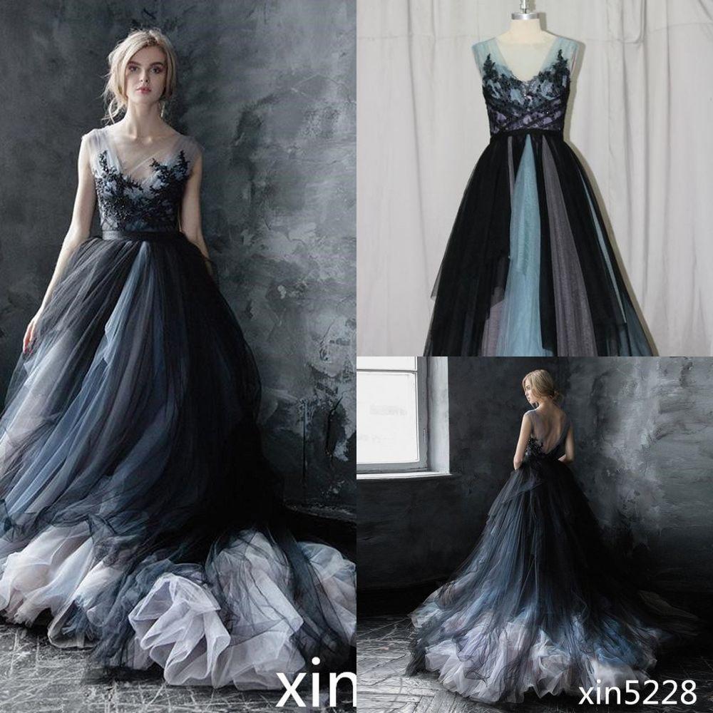 Victorian Gothic Wedding Dress Black White Bridal Gown Size 2 4 6 8 10 12 14 16 Wedding Black Wedding Dress Gothic Black Wedding Dresses Gothic Wedding Dress [ 1000 x 1000 Pixel ]