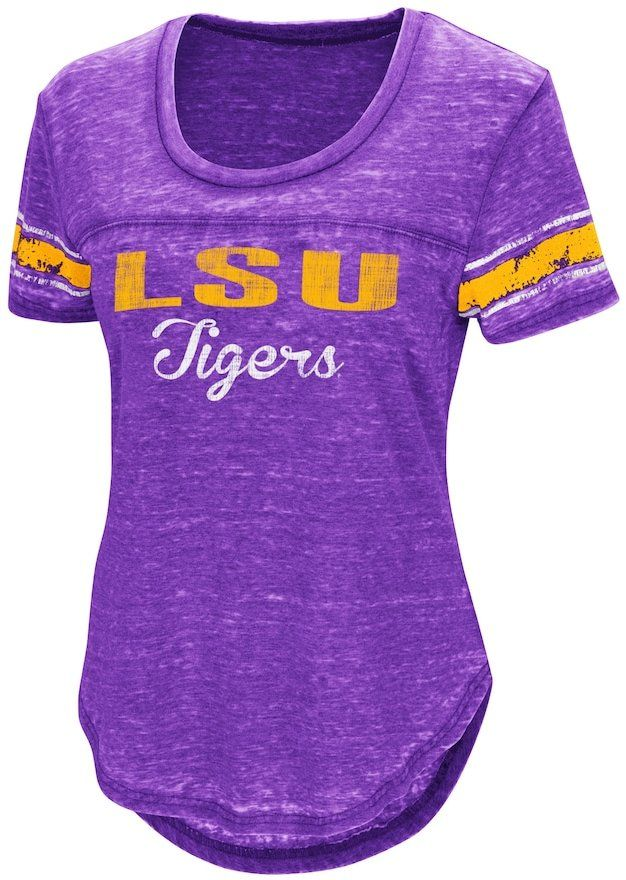a28167b655 Campus Heritage Women s Campus Heritage LSU Tigers Double Stag Tee Purple T  Shirts