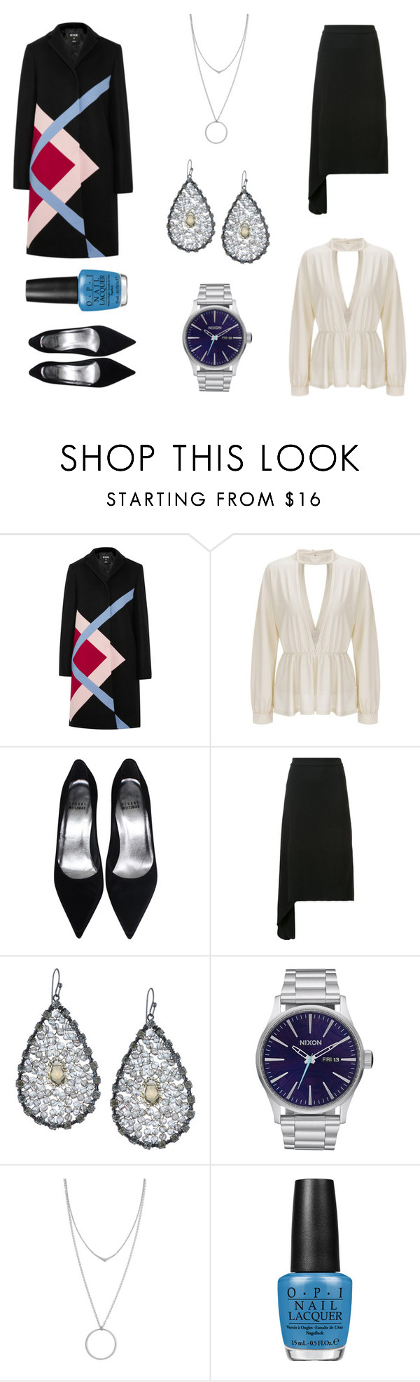 """""""Bookkeeping at the Top of the Rock"""" by tankytank ❤ liked on Polyvore featuring MSGM, Hellessy, NAKAMOL, Nixon, Botkier and OPI"""