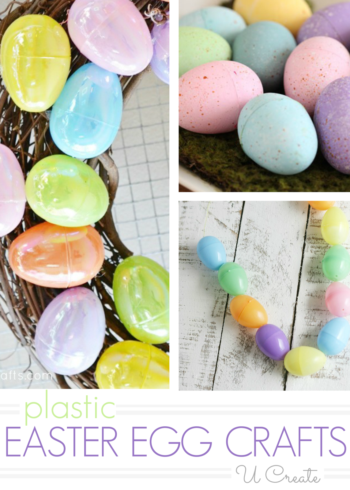 Plastic Easter Egg Craft Tutorials Easter Egg Crafts Plastic Easter Eggs Plastic Easter