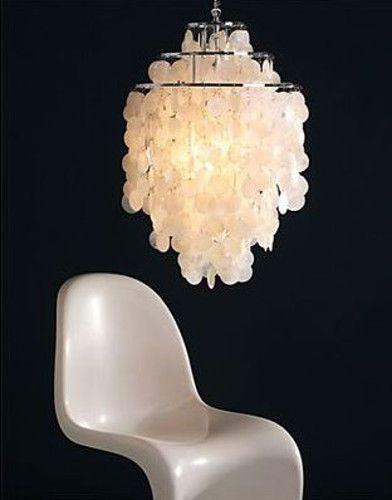 hängelampe hängeleuchte perlmutt xl muschellampe design lampe, Wohnzimmer