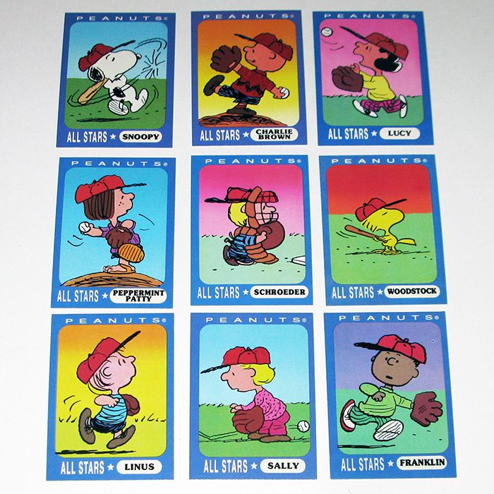 Peanuts Baseball Trading Cards By Ziploc Peanuts Trading Cards