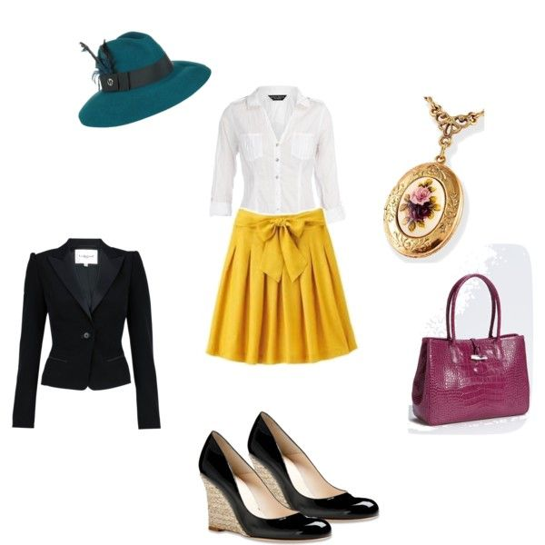 retro with a splash of color, created by rita707 on Polyvore
