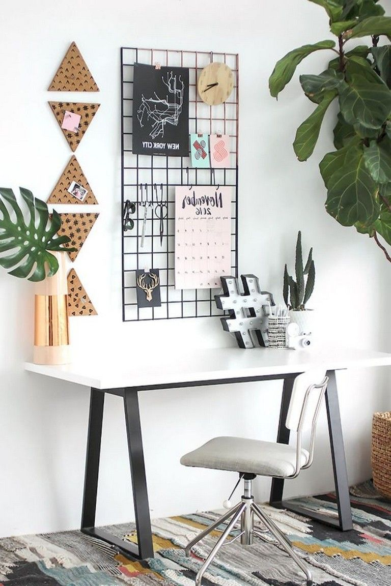 55 Awesome And Subtle Home Office Scandinavian Design Ideas Diy Desk Decor Room Decor Home Office Decor