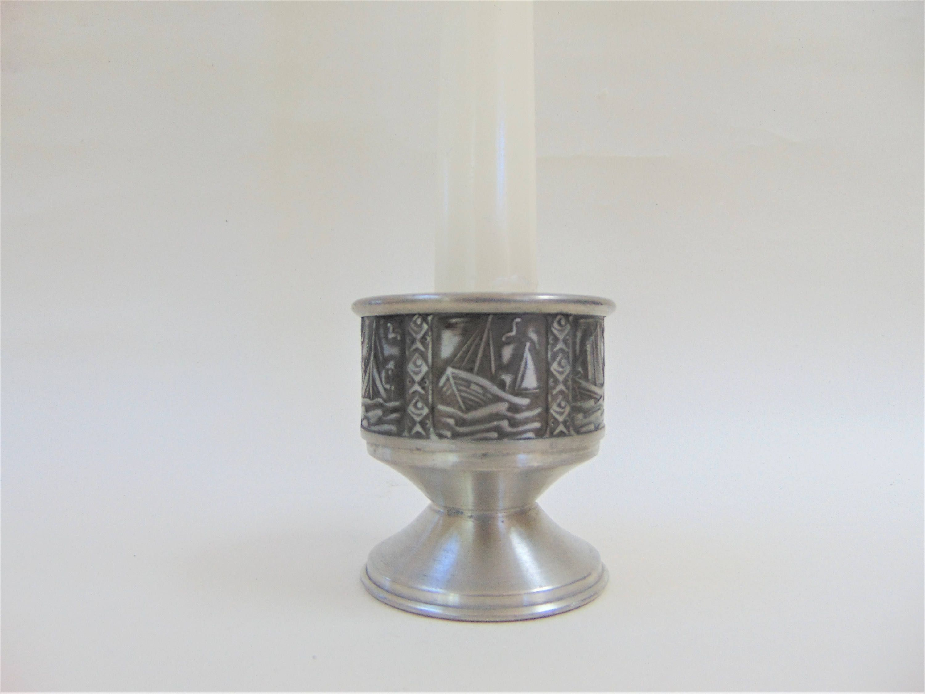 mastad pewter candlestick small size vintage norwegian metalware mastad pewter candlestick small size vintage norwegian metalware mid century home decor interiors collectables