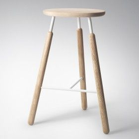 &Tradition | Raft Bar Stools NA4 by Norm Architects - Black or Neutral