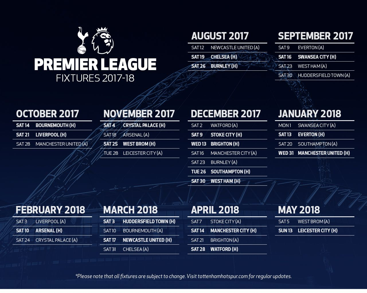 tottenham fixtures photos — superepus news