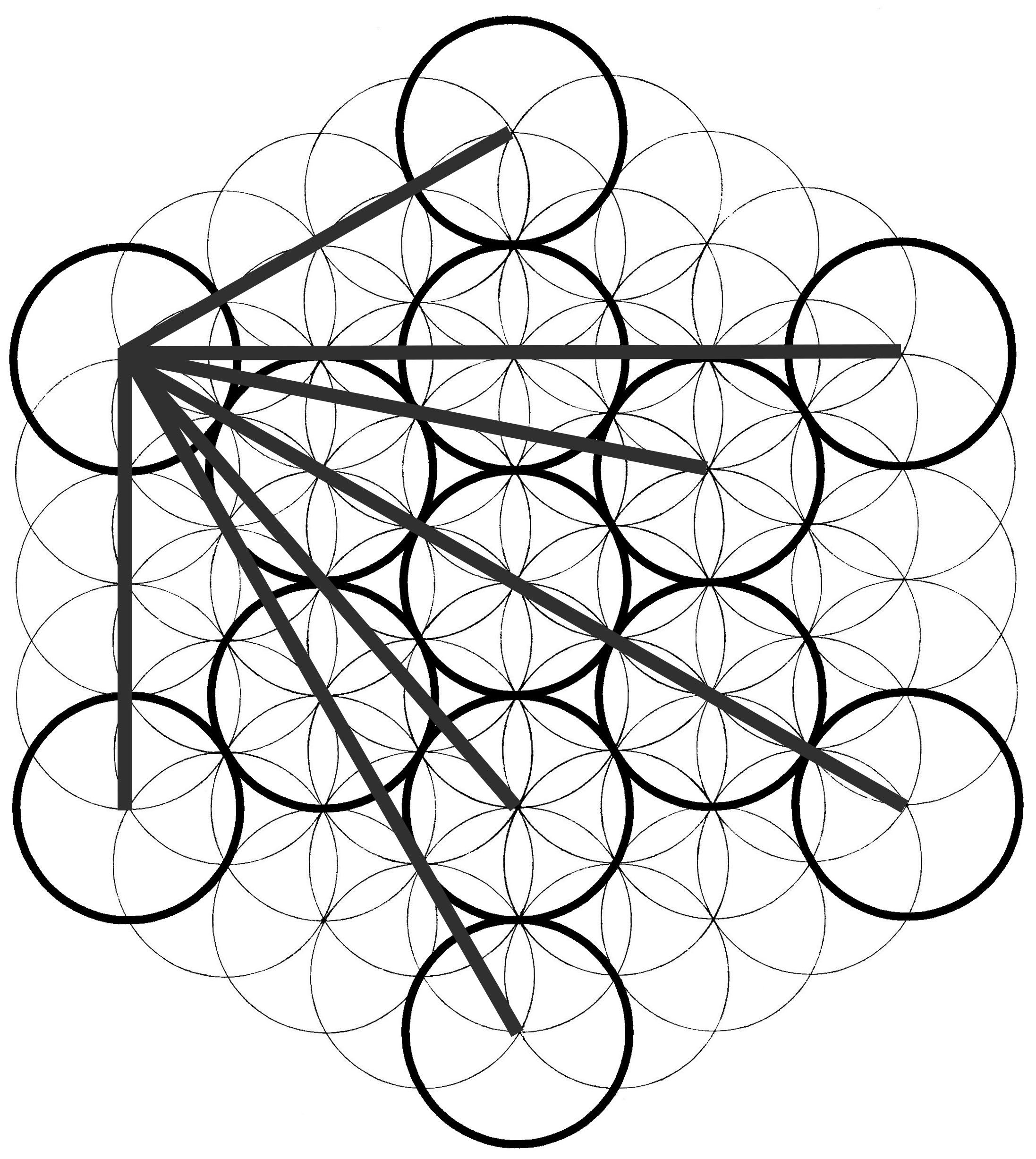 Metatron S Cube How To Draw It