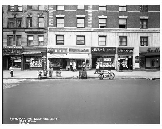 86th Street Broadway Storefronts 1957 Upper West Side Manhattan New York Ny Photo Nyc Vintage New York