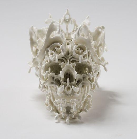 ceramic skul by Katsuyo Aoki