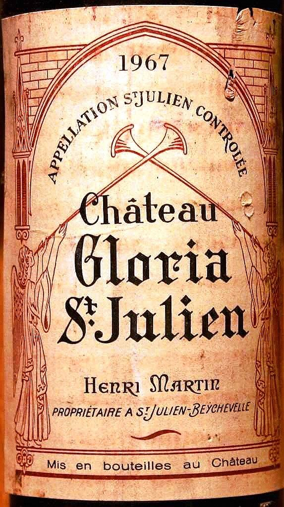 Chateau Gloria  1967  Saint Julien.