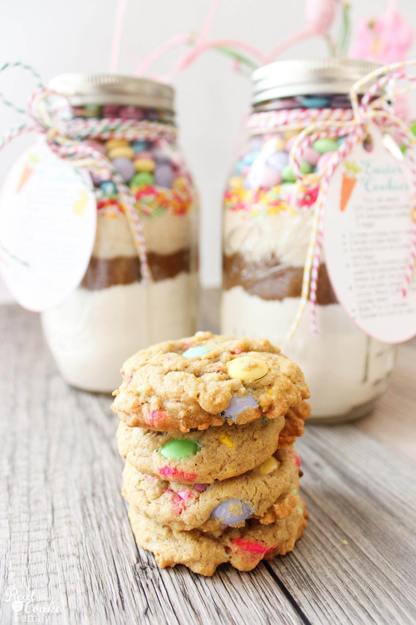 Easter mason jar cookie recipe with free printable tags easter easter mason jar cookie recipe with free printable tags negle Image collections