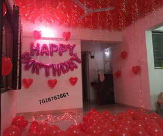 Surprise Room Decoration In Pune For Husband Birthday Romantic