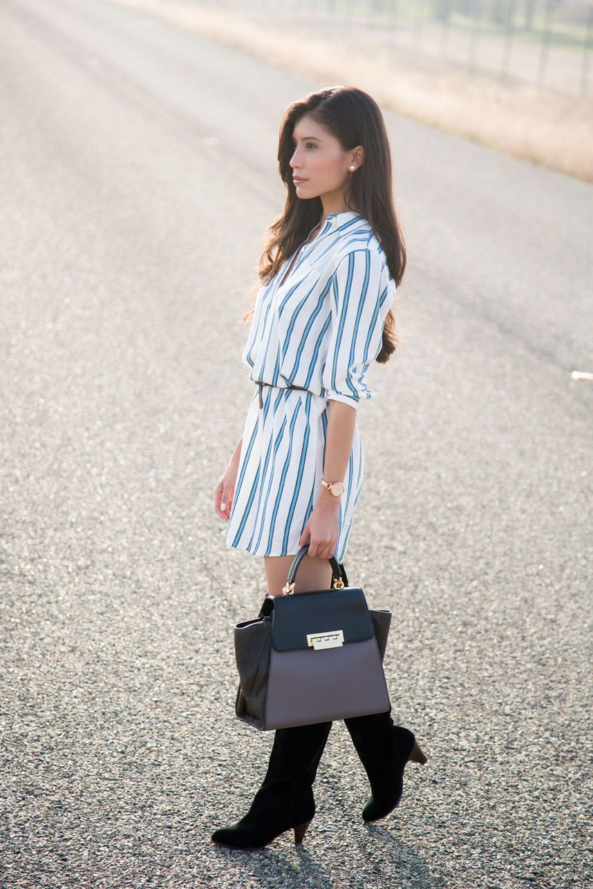 How To Wear A Shirt Dress This Fall Stylishlyme Outfit Posts