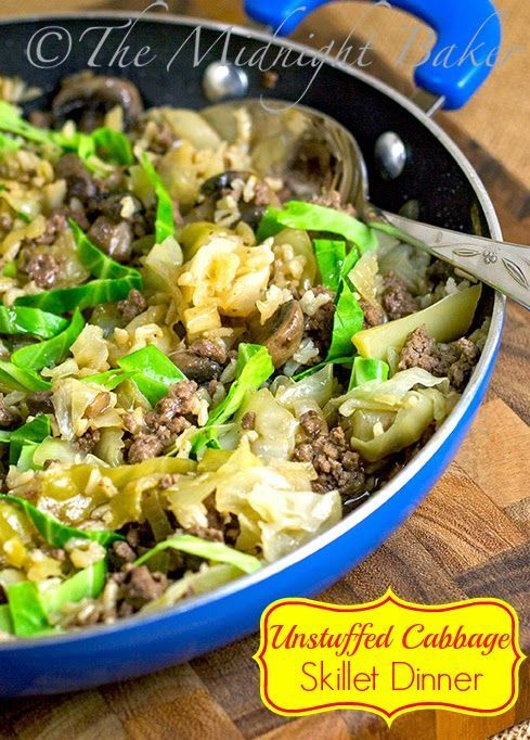 Unstuffed Cabbage Skillet Dinner   Recipe   Unstuffed cabbage ...