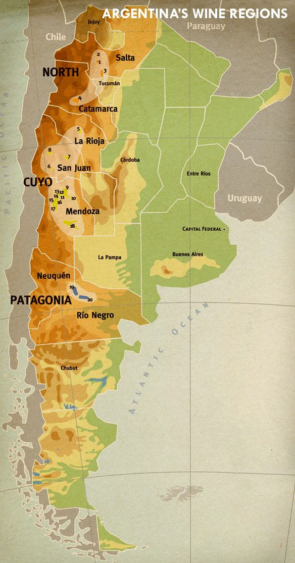 Wine of the week argentina makes interesting cabernet sauvignon map of argentina and the vinalba vineyards gumiabroncs Image collections