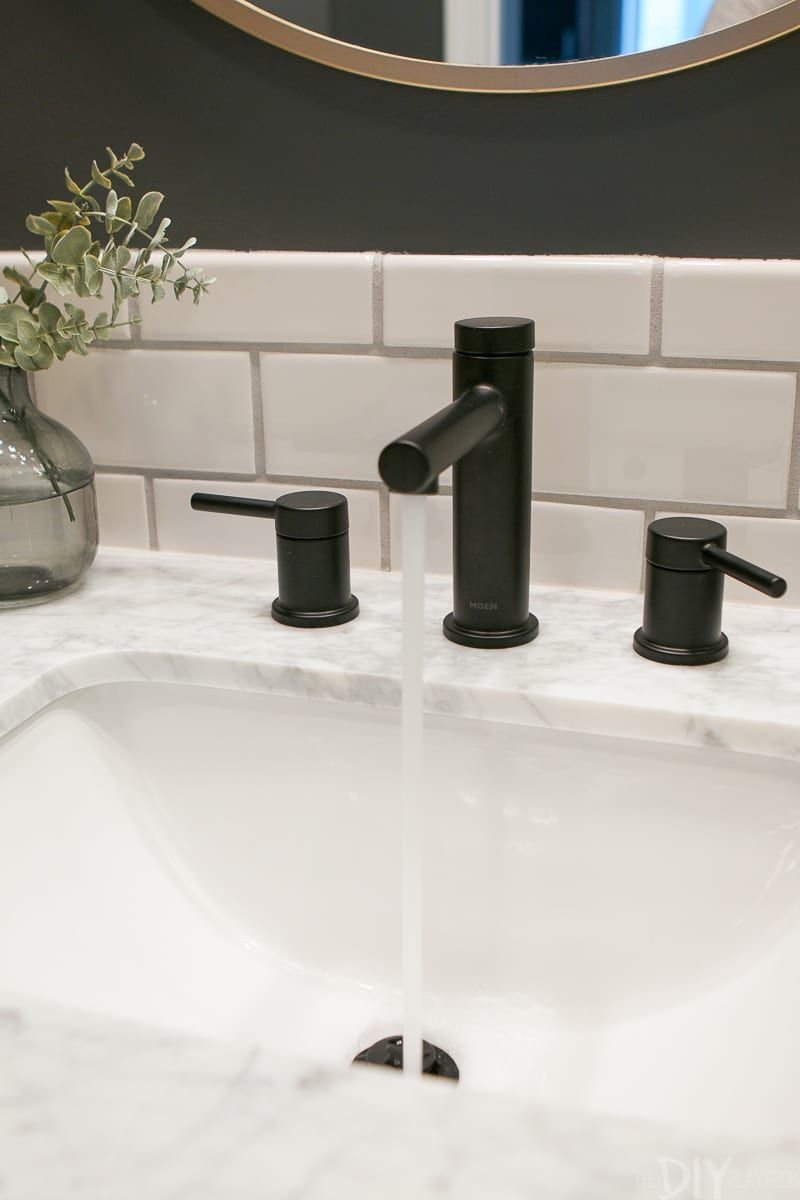 Finding A New Black Bathroom Faucet The Diy Playbook Black
