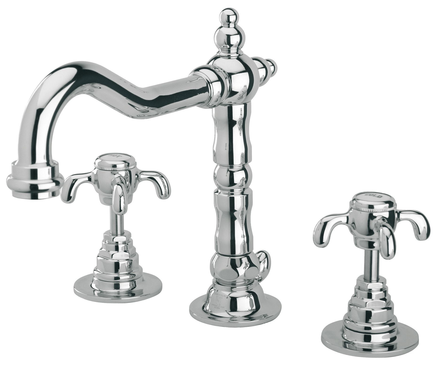 LaToscana Ornellaia Widespread Faucet with Cross Handles | Pinterest ...