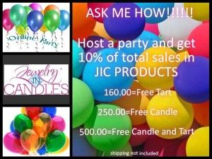 Host A Jewelry In Candles Online Party Today!
