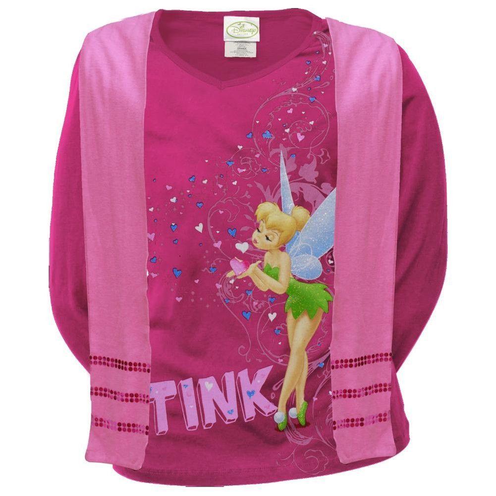 Tinker Bell Cotton Crew Neck Long Sleeve T-Shirt for Boys Girls