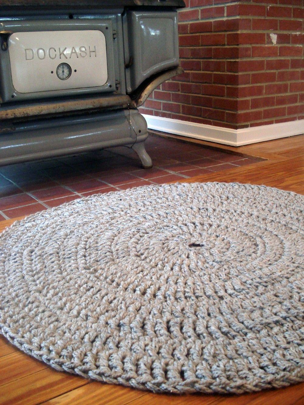 Custom Made Hand Crochet Round Rug - Large Size - 5 feet. $295.00 ...