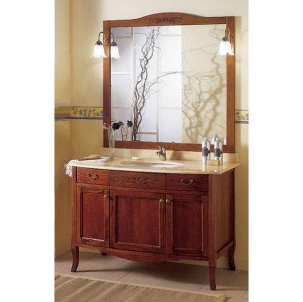 Mobile bagno in arte povera 116 cm con specchiera