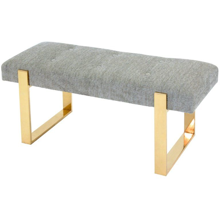 Sculptural Bench with Brass Base 1