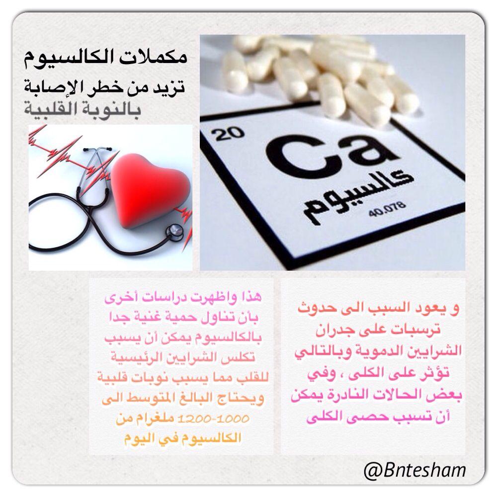 مكملات الكالسيوم تزيد من خطر الاصابة بالنوبة القلبية تعرف على السبب معنا Minerals Tips Calcium Roul Place Card Holders Vitamins And Minerals Card Holder
