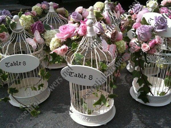 Mini birdcage centerpieces - photo#46
