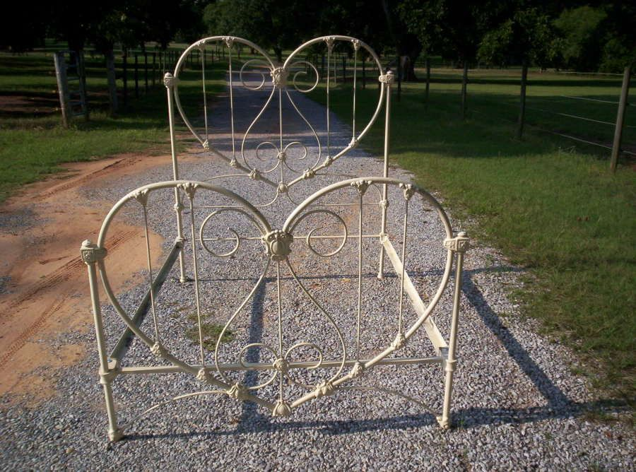 beautiful heart shaped antique iron bed happy valentines day - Vintage Iron Bed Frames