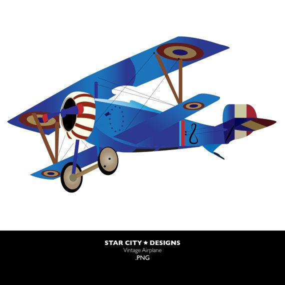 vintage airplane clip art clipart vector art graphics for rh pinterest com Airplane Clip Art Airplane Clip Art