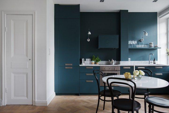 Pintar la pared de la cocina del mismo color que los muebles ...
