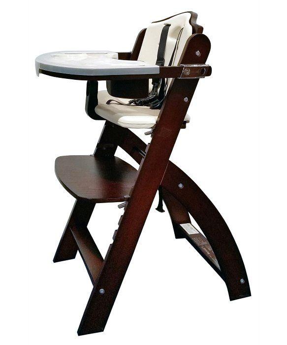 Abiie Beyond Junior Y Wooden High Chair Mahogany Wooden High Chairs Adjustable Chairs High Chair