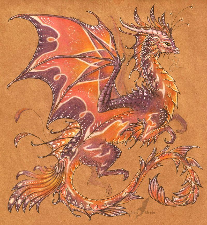 Драконы красивые рисунки