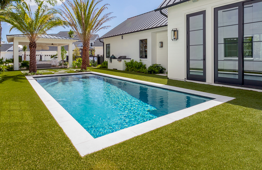 Rectangle Inground Pools Pictures Blue Haven Pools Backyard Inground Swimming Pools Backyard Inground Backyard Pool