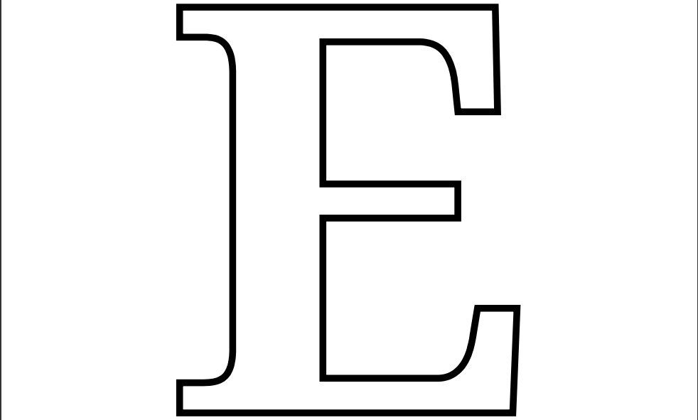 printable letter e coloring page