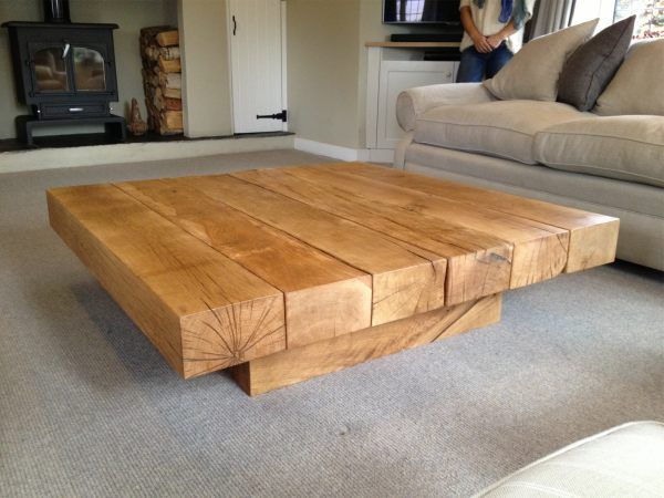 Square Oak Coffee Table 1 Tarzantables Co Uk Couchtisch Holz Wohnzimmertische Couchtisch Quadratisch