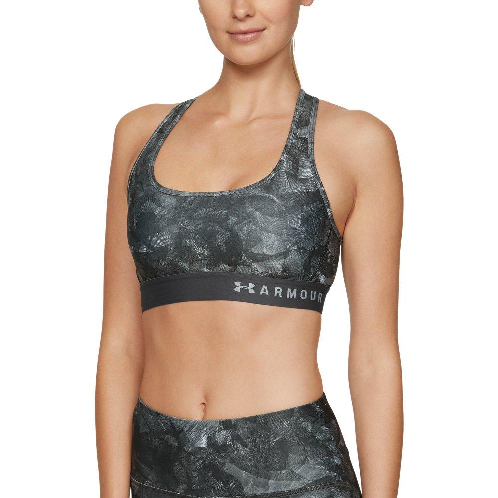 Women/'s Under Armour Armour Mid Printed Sports Bra