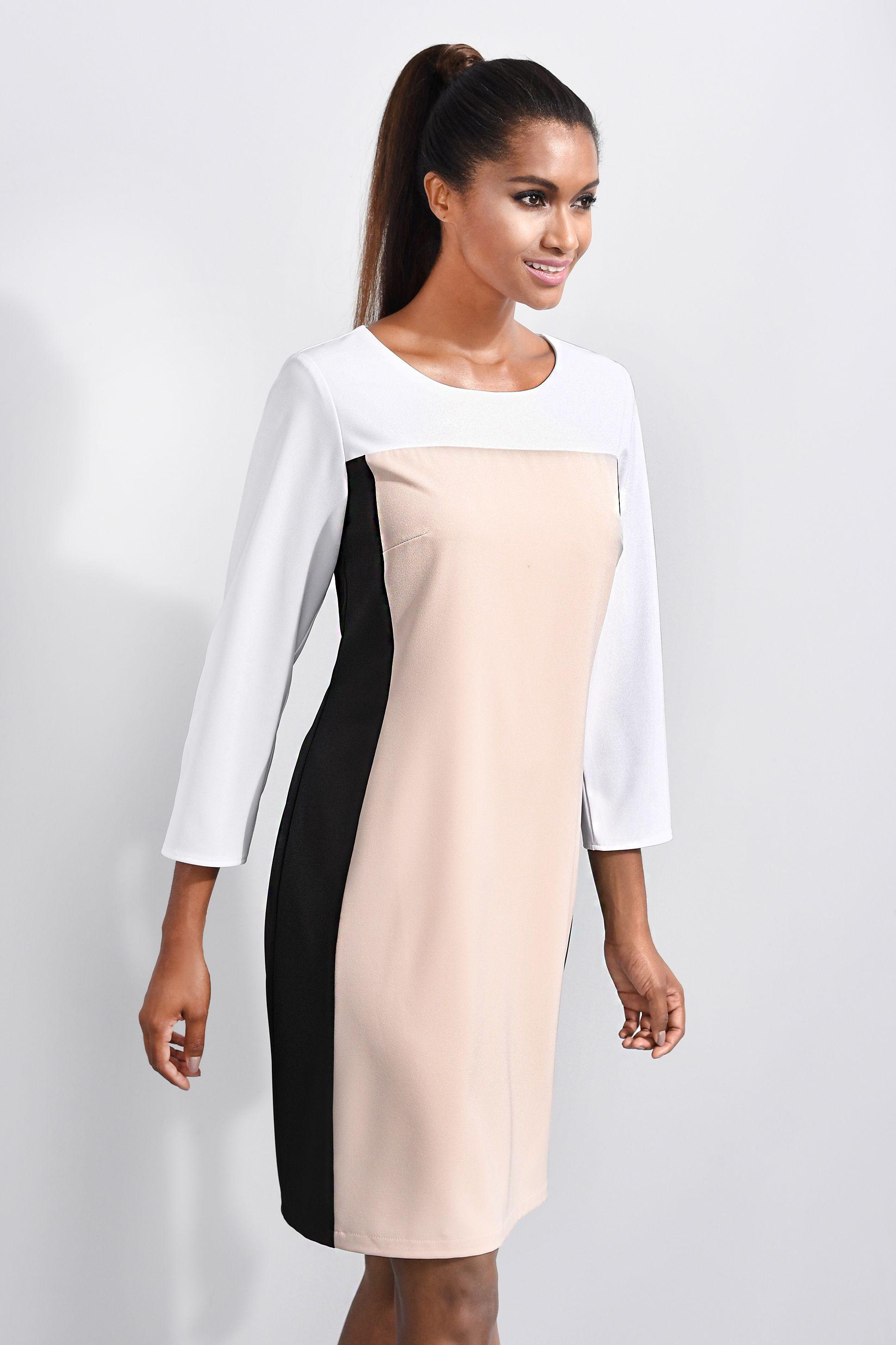 edles alba moda kleid in kurzer form, mit plakativen colour