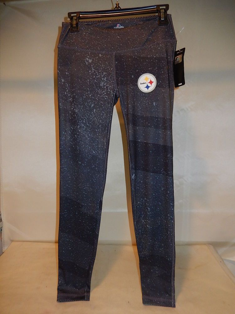 61200 WOMENS Ladies PITTSBURGH STEELERS Football Jersey YOGA SWEATPANTS BLACK #NFLTEAMAPPAREL #PittsburghSteelers