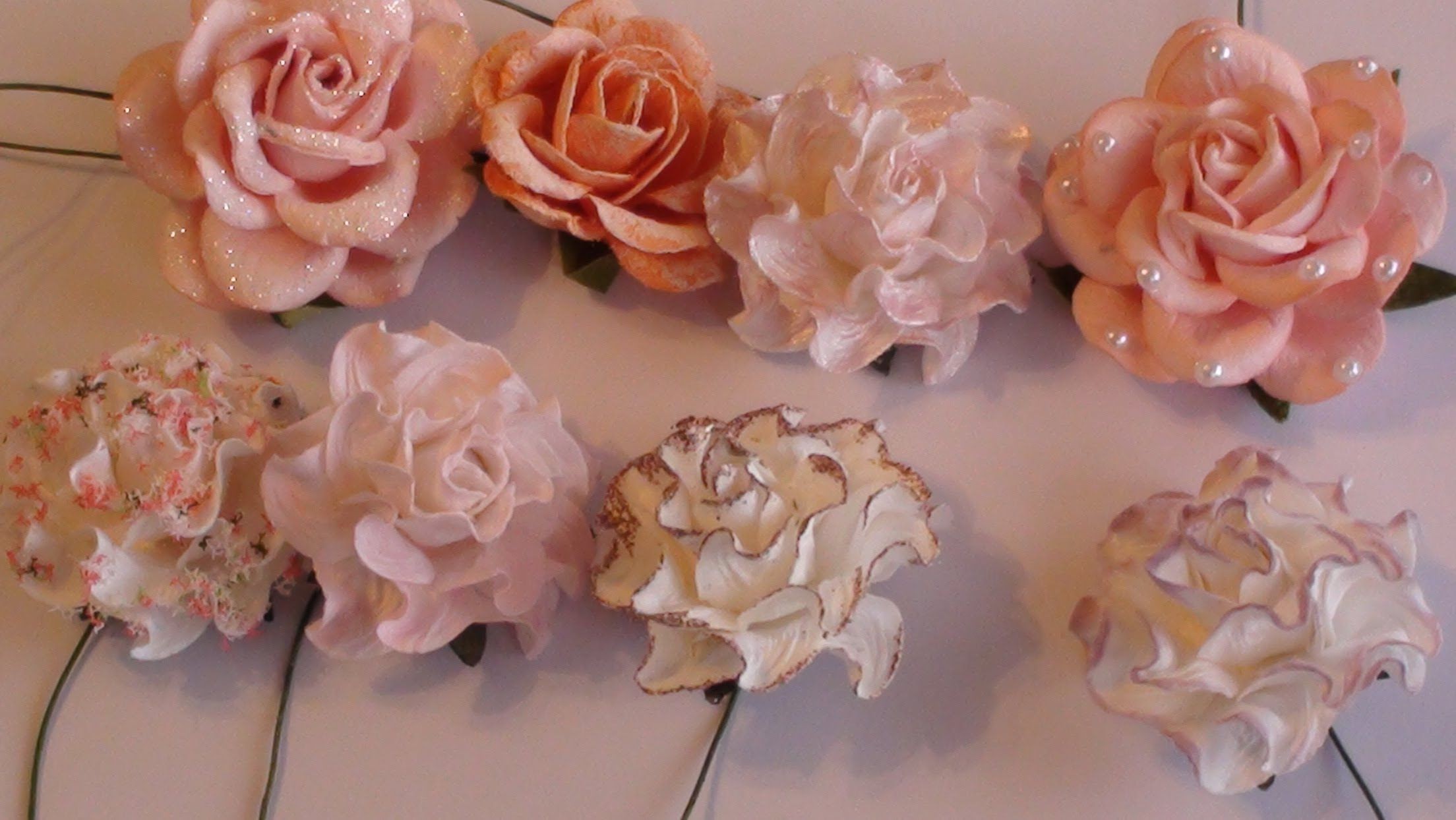 Wild Orchid Crafts Tutorial On Altering Paper Flowers The