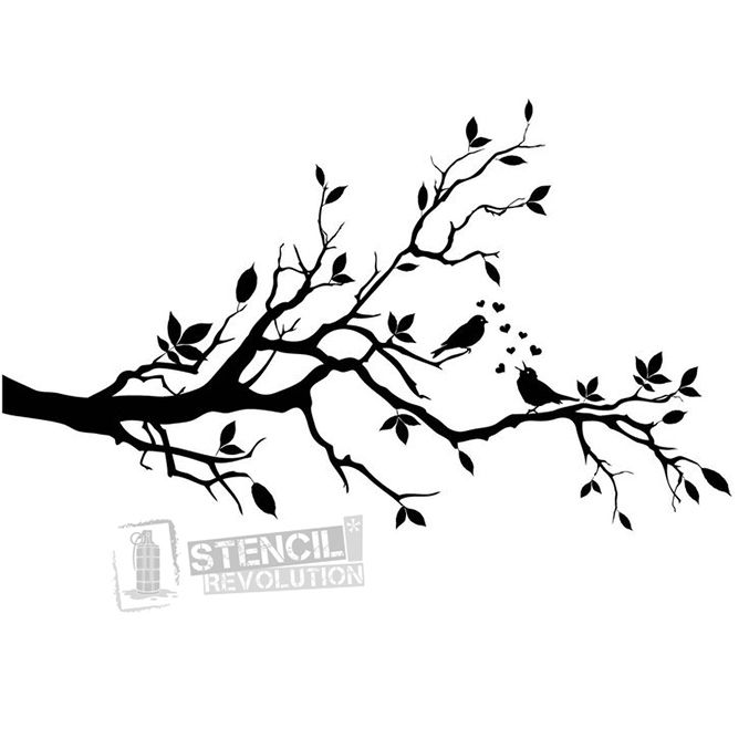Tree Branches Stencil Housey Pinterest Vinyl wall art, Vinyl