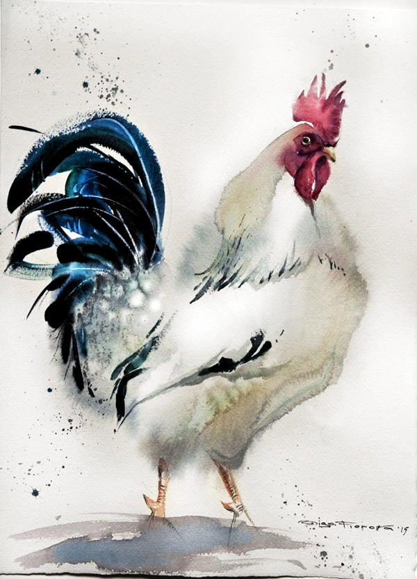 45 adorable animal watercolor paintings -  45 adorable animal watercolor paintings  - #adorable #Animal #IndianPaintings #OilPaintings #Paintings #watercolor