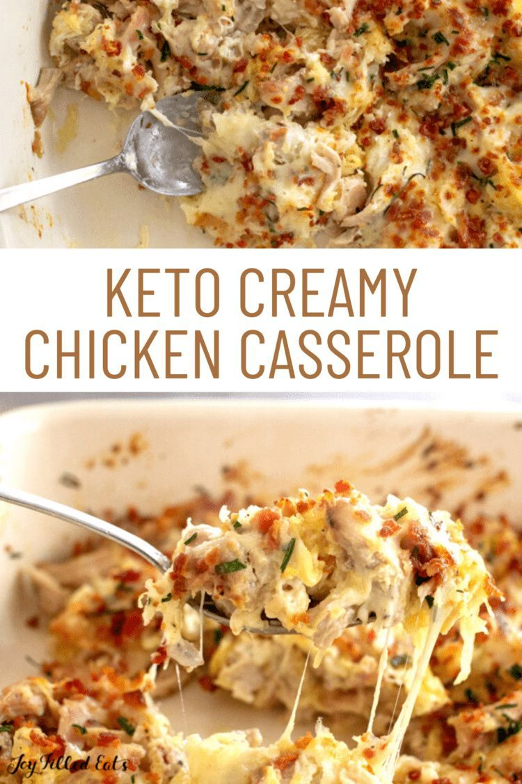 Creamy Chicken Casserole Keto Low Carb Gluten Free Thm S In 2020