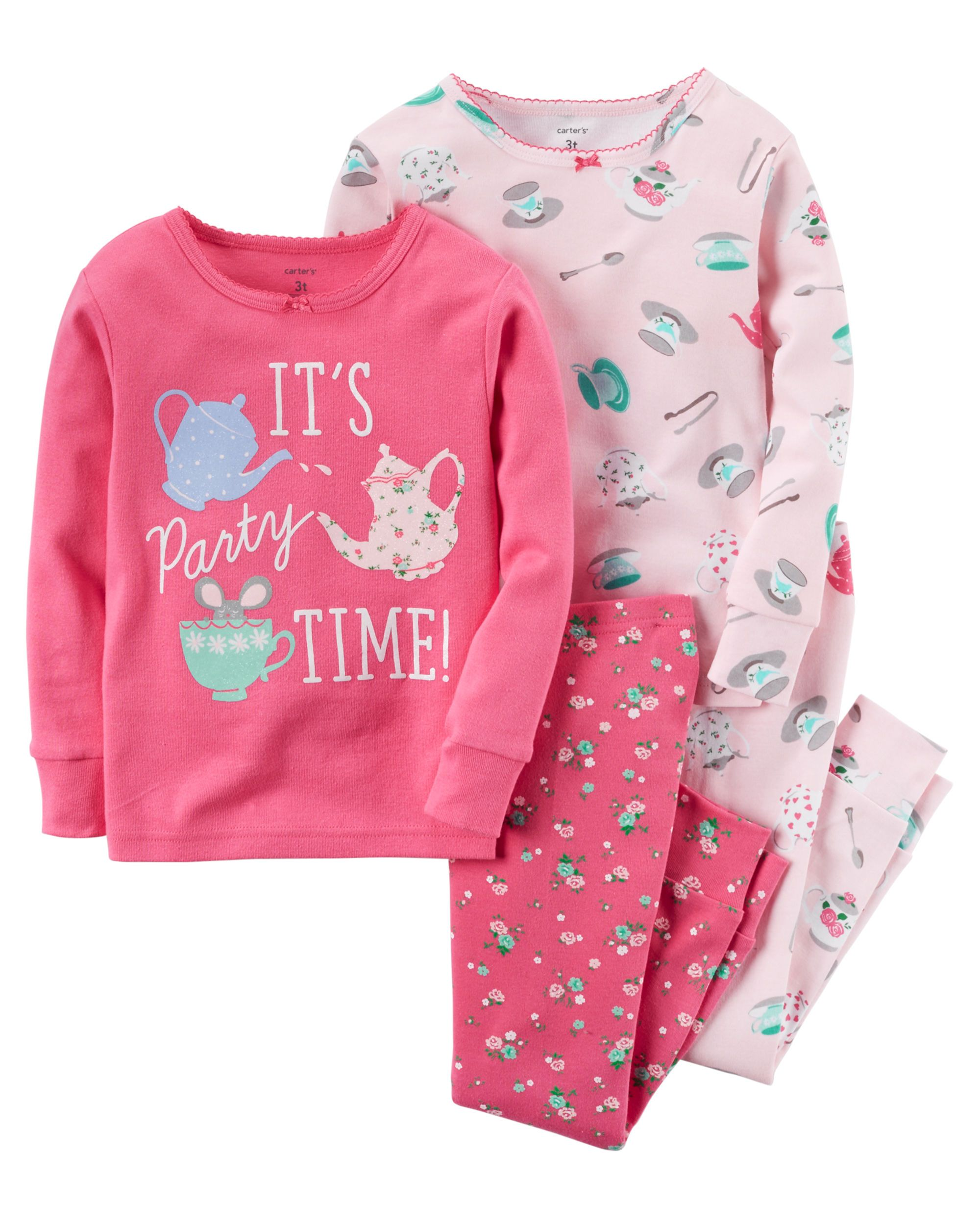 450b92666c7b 4-Piece Snug Fit Cotton PJs