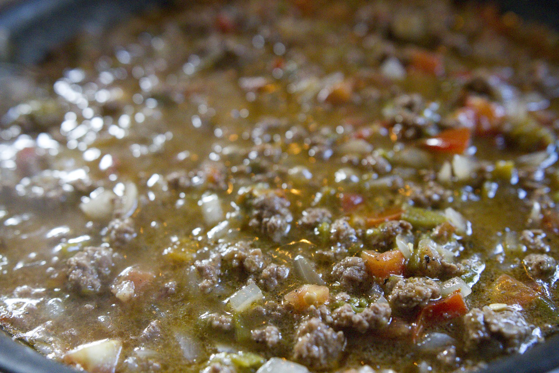 Green Chile With Ground Beef Recipe I Am New Mexico Green Chili Recipes Green Chile Recipes Ground Beef Recipes