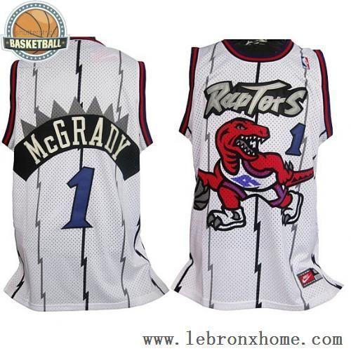 cfaf846dd8e Toronto Raptors 1 Tracy McGrady Retro White NBA Jerseys | Stuff to ...