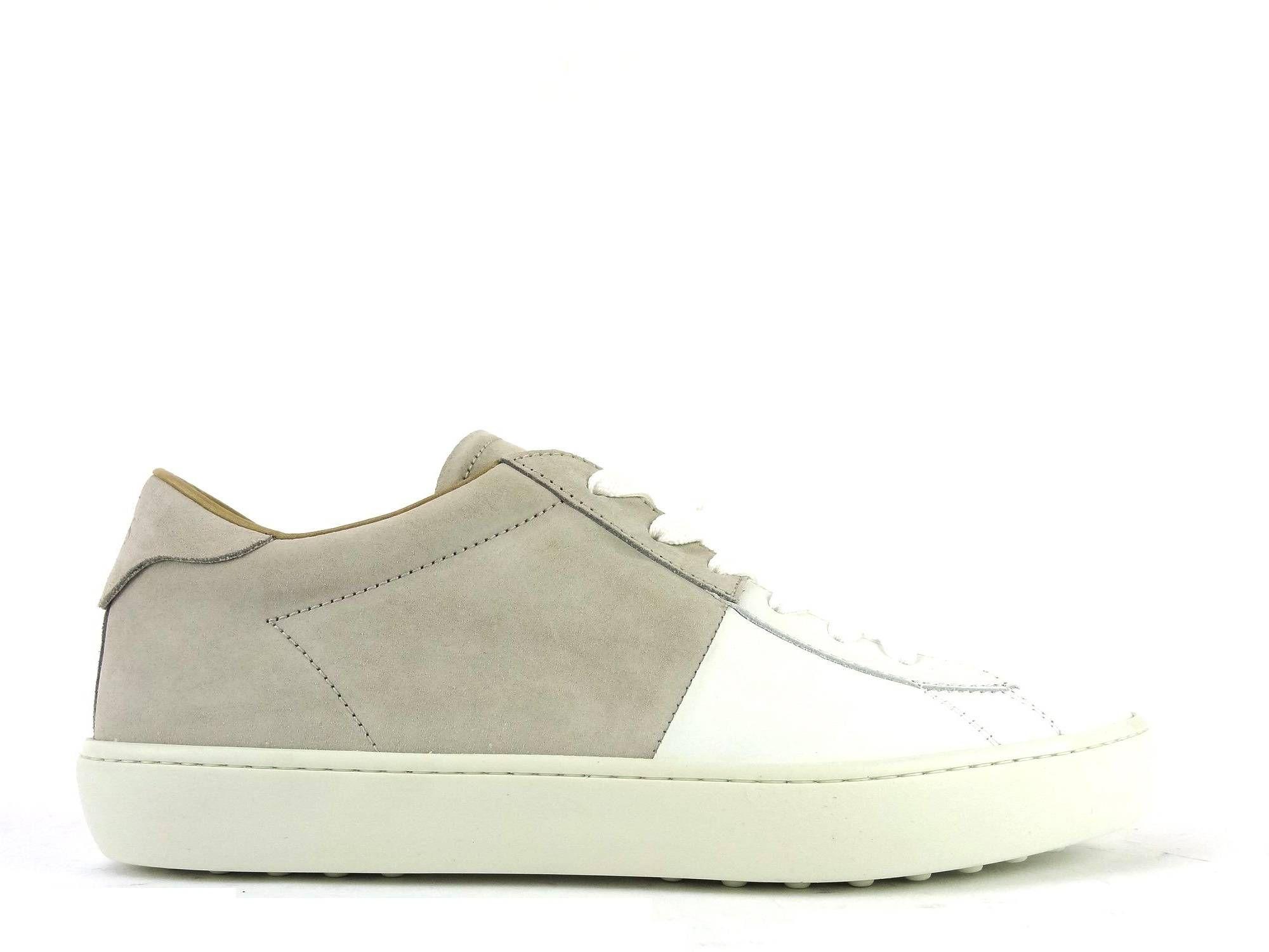 Référence  Sport Bi Hiv en cuir blanc et nubuck gris (clair) Marque ... 668e2f9bf672